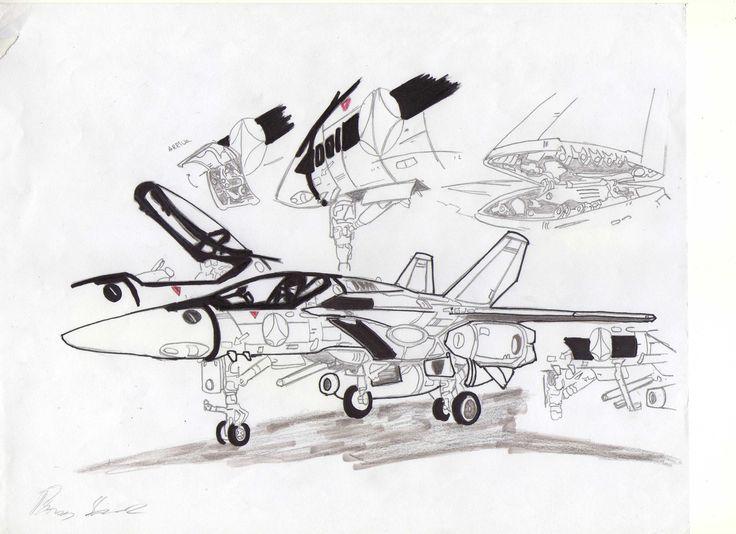 Detalles de VF-1 en modo avión