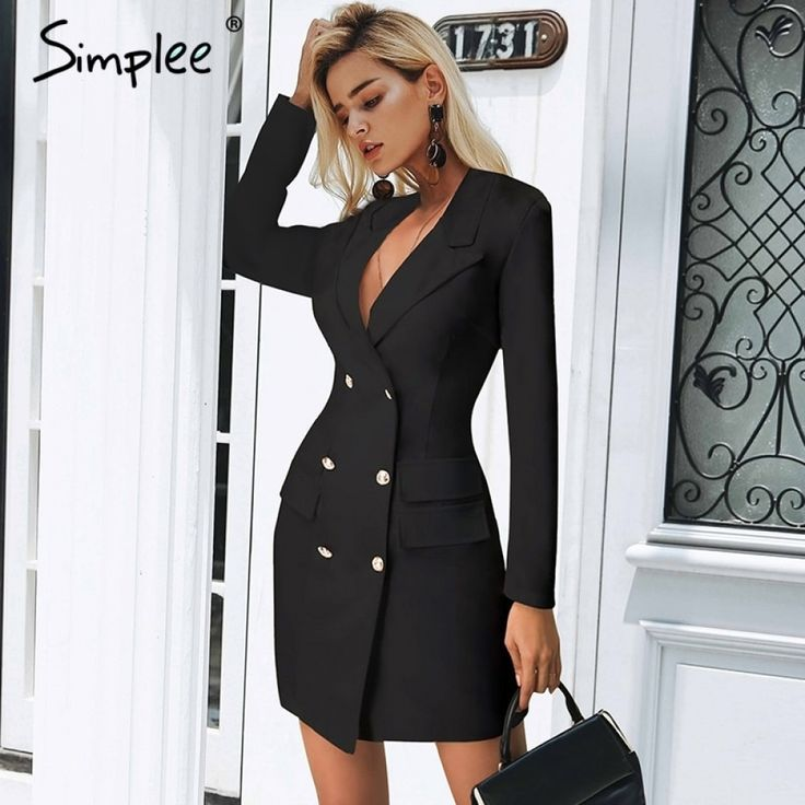 Women's Elegant Double Breasted Dress Price: 37.98 & FAST Shipping