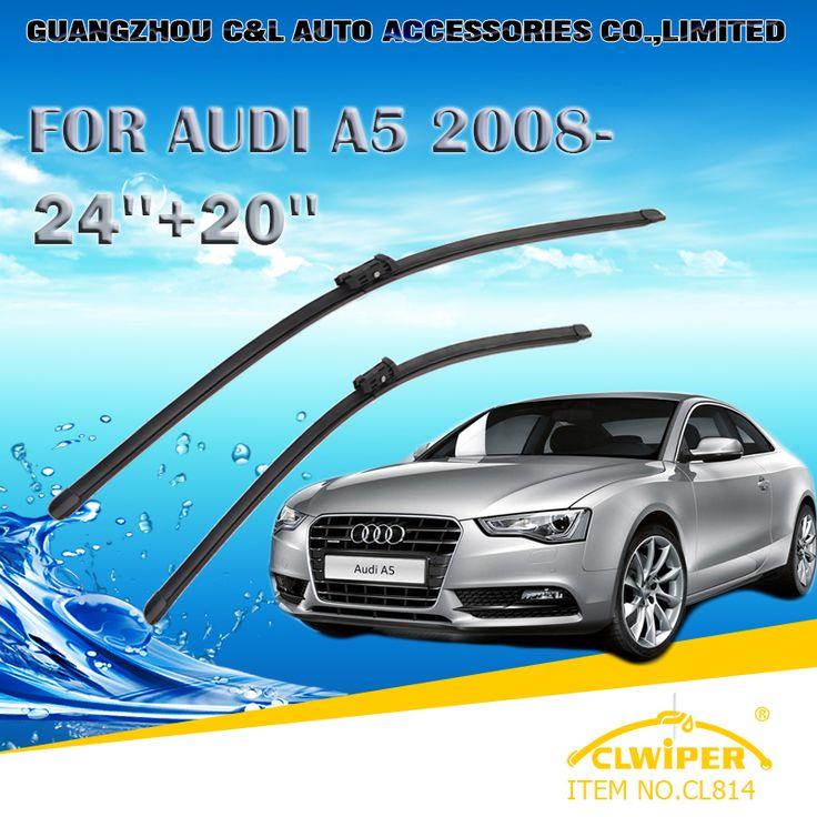 """Wiper Blades For AUDI A5(2008-)2009 2010 2011 2012 2013 2014Car Windscreen Wiper Windshield Wiper Blade 20""""+24"""" Cars accessories"""