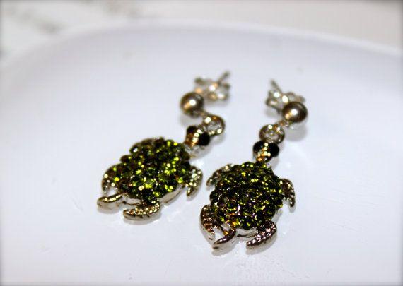 Vintage Turtle Earrings Sterling Silver by KimberlysTreasure, $34.00