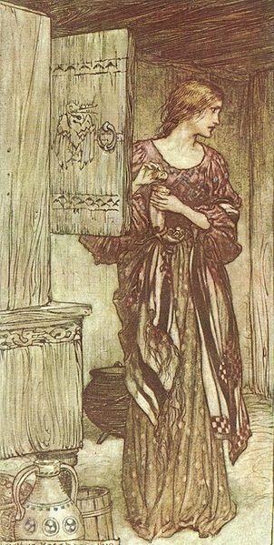 arthur rackham - illustration for wagner's die walküre