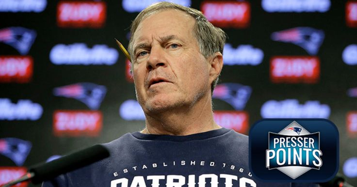 Patriots head coach meets with the media on the eve of training camp practice.