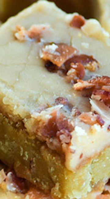 Maple Bacon Blondies