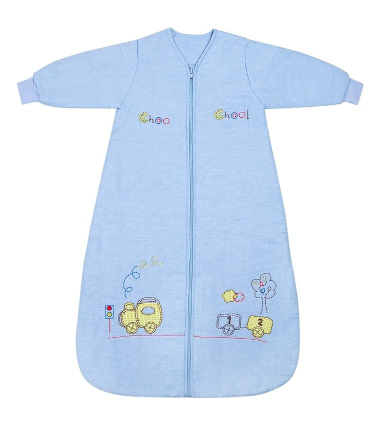 Little boys love this 100% cotton sleep sack with its exquisite train embroidery! Sizes from birth to 10 years, with four tog ratings to suit all times of the year!