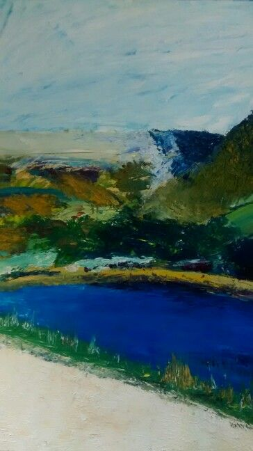 Dovestones  view by Amy. A1 oil painting.