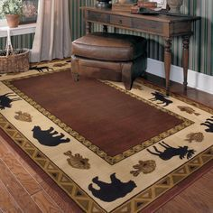 Cabin Area Rugs | Home Cabin Retreat Rectangle Rug