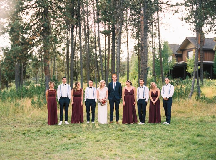 McCall Wedding Photographer Jenny Losee- Blackhawk on the River | Boise Wedding | Boise Photographer | Idaho Wedding | Fine Art Film Photography | Bouquet Inspiration | Red wedding Inspiration | Maroon Bridesmaids dresses