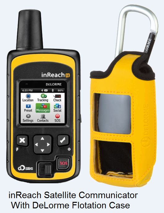 inReach Satellite Communicator With DeLorme Flotation Case