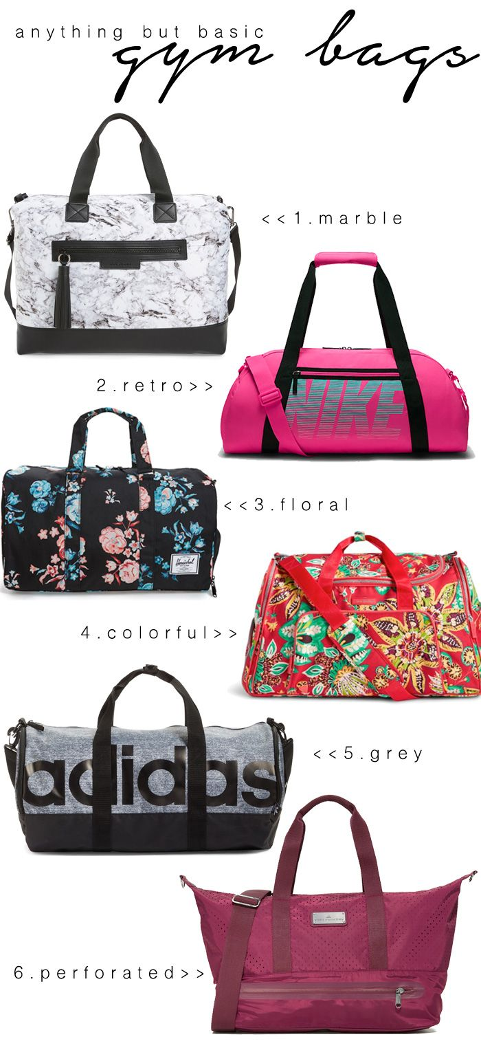 Cute gym bags are a must have in every closet. They can be used at the gym or on weekend trips. Check out these cute gym bags for your next adventure! via Seeking Sunshine