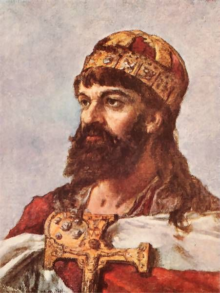 Mieszko I ( 960-992) the first historic ruler of Poland, founder of the Piast dynasty. He united several western Slavonic tribes under his sway and consolidated his power by marrying the Bohemian princess, Dobrava, and converting to Christianity in 966. As a result, the Polish state was brought into the European political system and established relations with the greatest powers of that period, the papacy and the empire. After Dobrava's death, Mieszko married Oda.