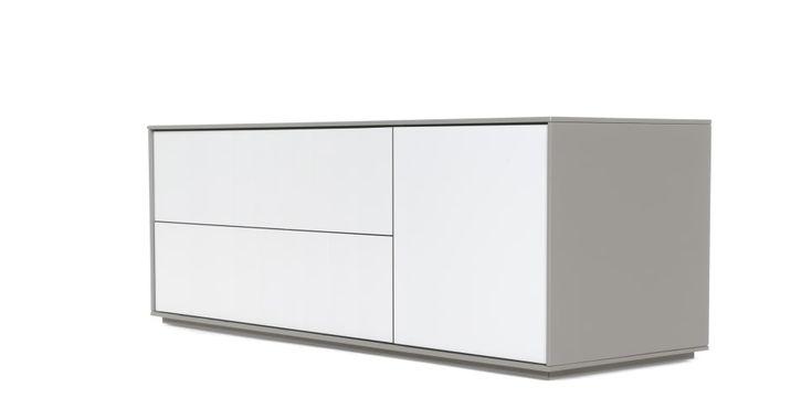 Stretto, meuble TV, gris | made.com