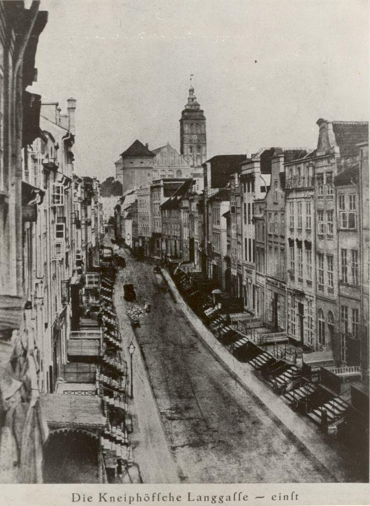 Königsberg Pr. Die Kneiphöfsche Langgasse einst................