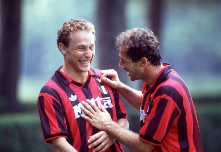 Jean Pierre Papin et Franco Baresi (AC Milan)
