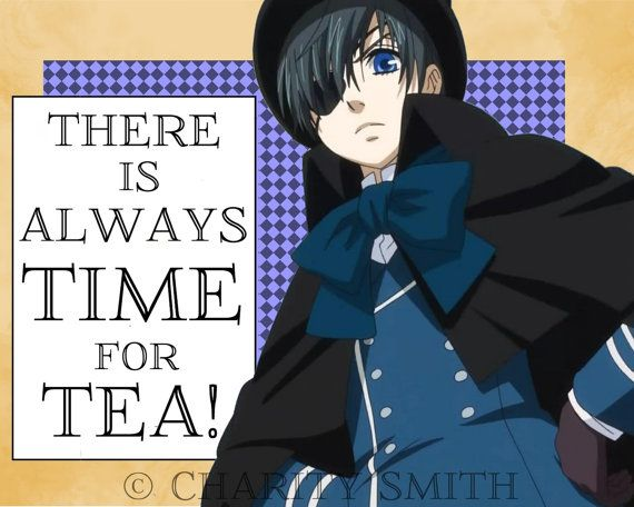 This is a print of my found image collage Tea Time Black Butler fan art  You can also get this same collage except with a custom quote or message