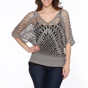 Crochet Dolman Sleeve Sweater