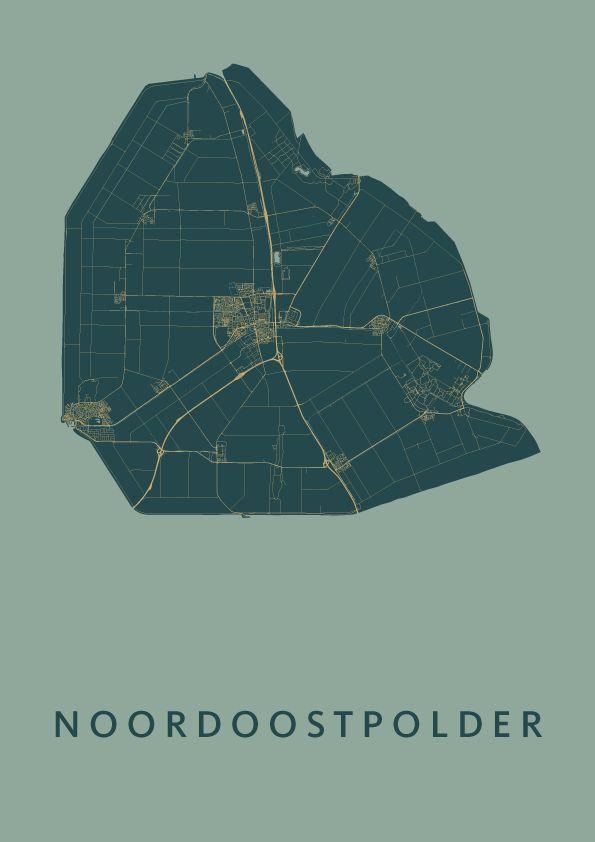 Noordoostpolder Map Amazon