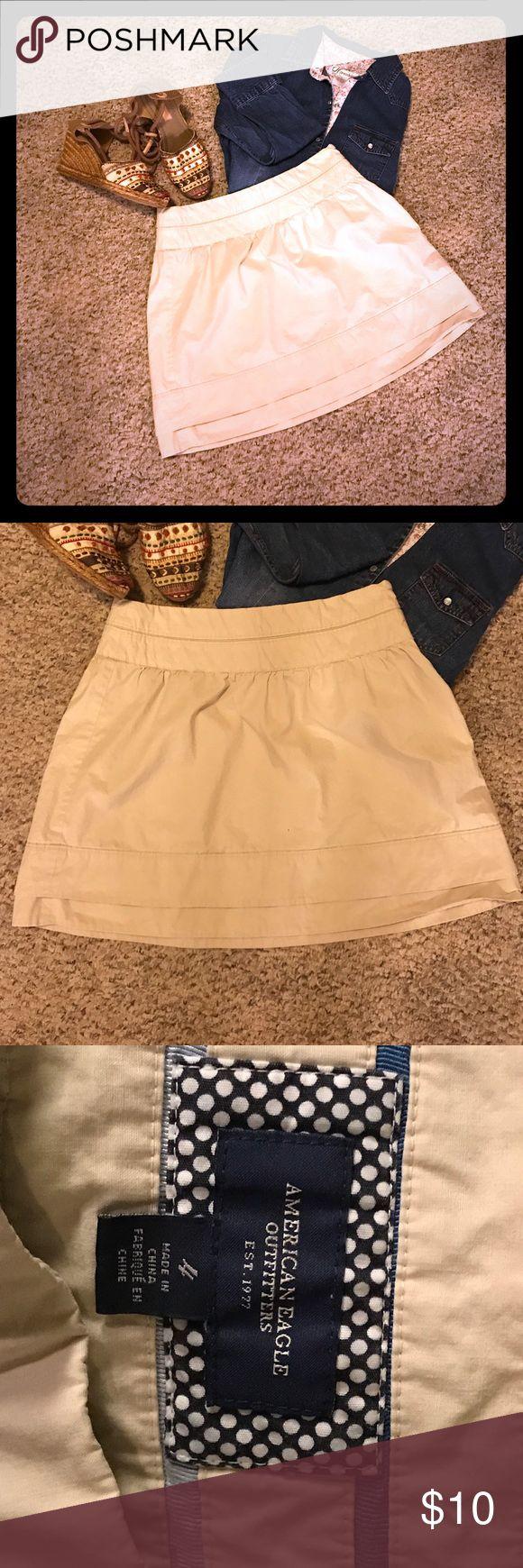 American Eagle Khaki Skirt American Eagle Outfitters Khaki mini skirt size 4 American Eagle Outfitters Skirts Mini