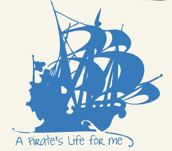 A pirates life for me wall decal sticker vinyl by householdwords 39 00