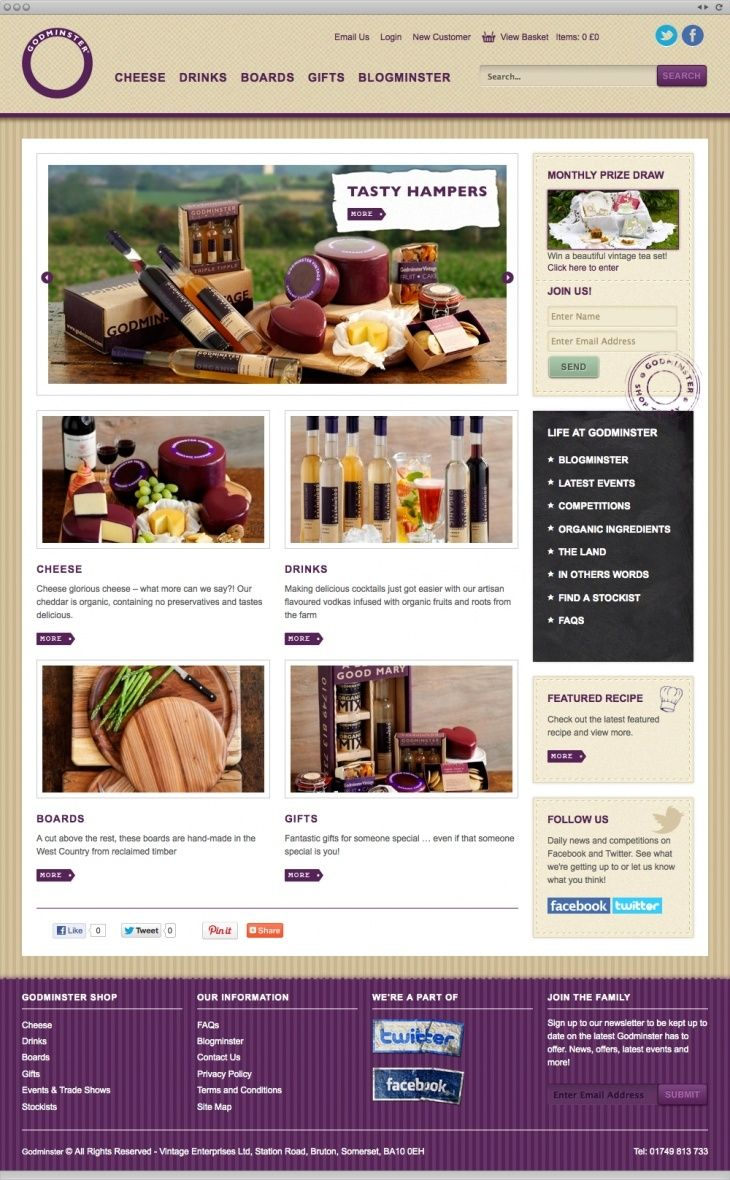 Godminster wanted an online shop that combined the ability to purchase products online and promote their company ethos.