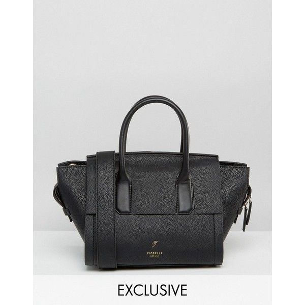 Fiorelli Exclusive Mini Hudson Winged Tote Bag ($128) ❤ liked on Polyvore featuring bags, handbags, tote bags, black, winged tote bag, handbags totes, mini tote, miniature purse and winged handbags