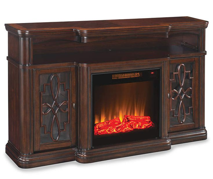 60 Quot Walnut Finish Electric Fireplace At Big Lots My