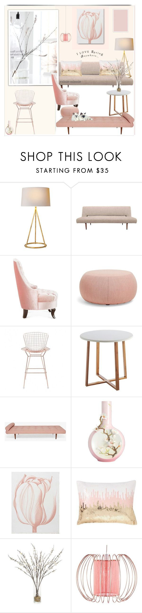 """Spring Time"" by rainie-minnie ❤ liked on Polyvore featuring interior, interiors, interior design, home, home decor, interior decorating, Haute House, Arper, Zuo and Franz Collection"