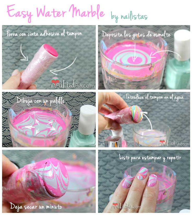 58 best Water marble nail art images on Pinterest | Water marble ...