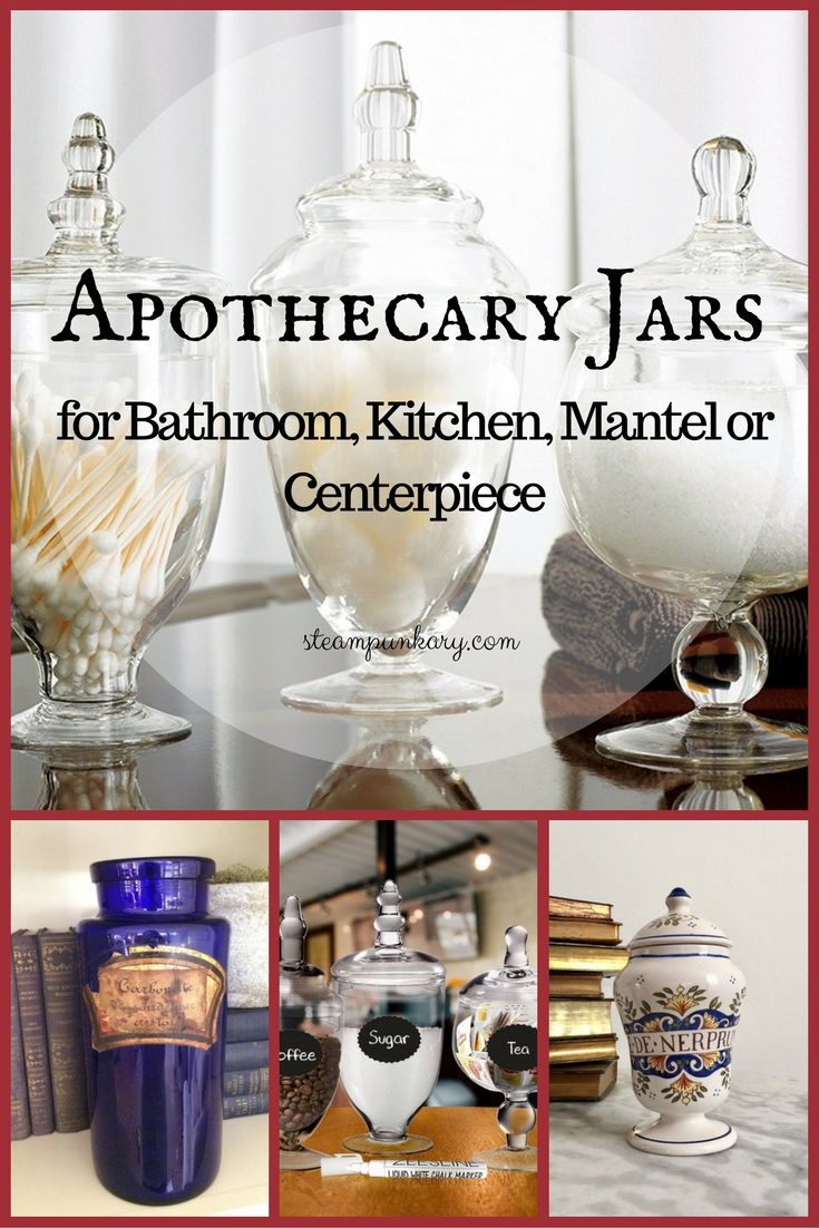 Apothecary jars have become popular decorating accessories because they are cool-looking,vintage in style and versatile and practical.