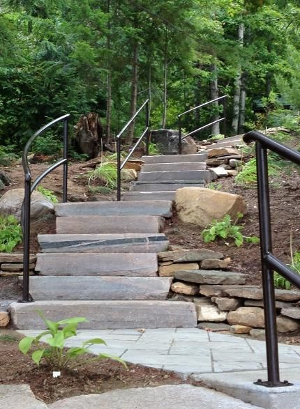 This Steep Descent To The Dock Had Not Been Possible For These Clients In  Years. Exterior HandrailStair ...