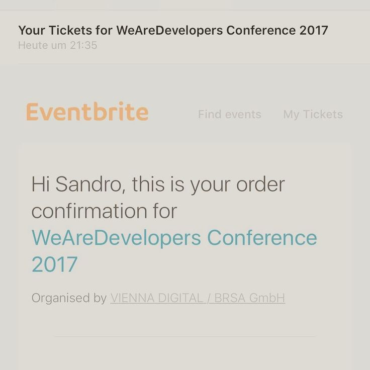 Can't believe that i got a Conference Pass Plus  #vienna #conference #we #are #developer #softwaredeveloper #web #java #javaee #css #html #javascript #webdevelopement #mobile
