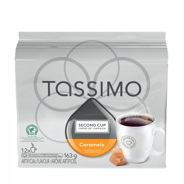 Tassimo Second Cup Caramelo 12 T-Discs | Prepare this Second Cup favourite at home with your Tassimo! #tassimo #tdisc #caramel #coffee
