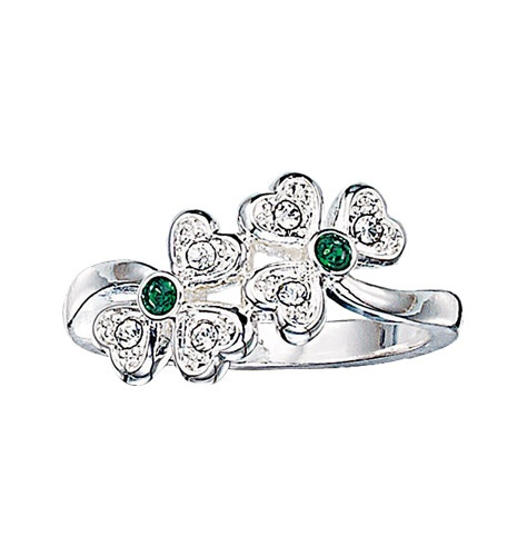 Rhinestone Shamrock Ring     Be the first to write a review  Reg. $9.99