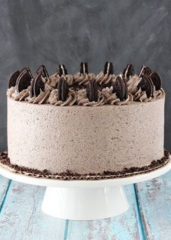 This Chocolate Oreo Cake is to die for! A moist chocolate cake full of Oreo icing! And not just any Oreo icing - it is FULL of crushed up Oreos. An Oreo lover's dream.