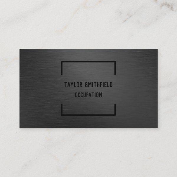 Matte Black Business Card Zazzle Com In 2021 Black Business Card Minimalist Business Cards Cool Business Cards