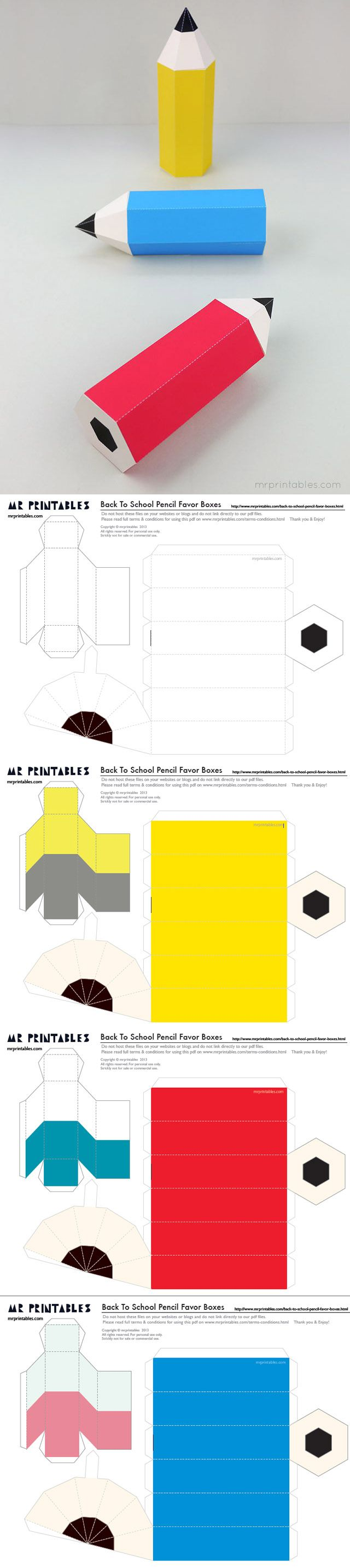 Pencil Box. Templates En grand pour déco chambre