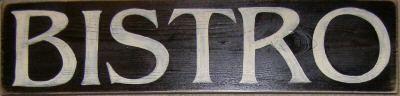 Bistro sign