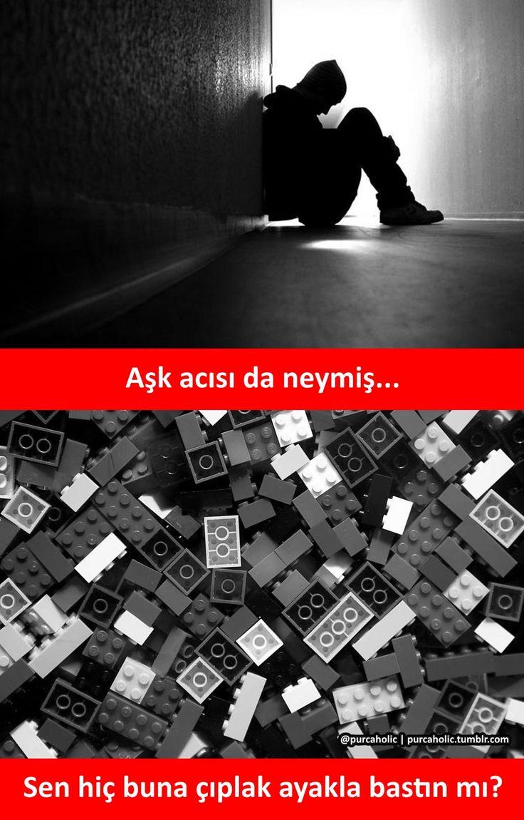 Aşk acısı da neymiş... Sen hiç buna çıplak ayakla bastın mı? #mizah #matrak…