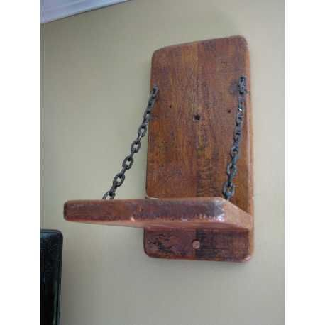 Upcycled Rustic Wooden Speaker Stands Made from Pallet Wood