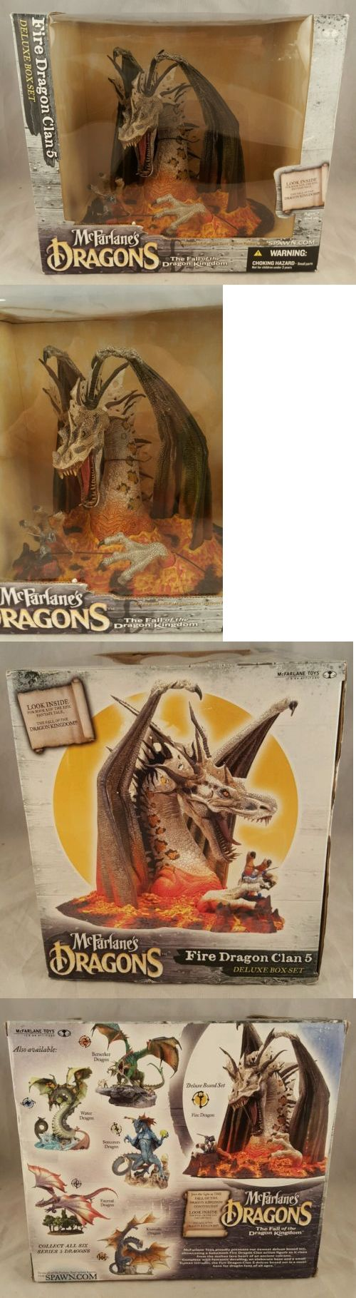 Fantasy 175693: Mcfarlane Toys Dragons Fire Dragon Clan 5 Deluxe Box Set Brand New 2005 -> BUY IT NOW ONLY: $47.99 on eBay!