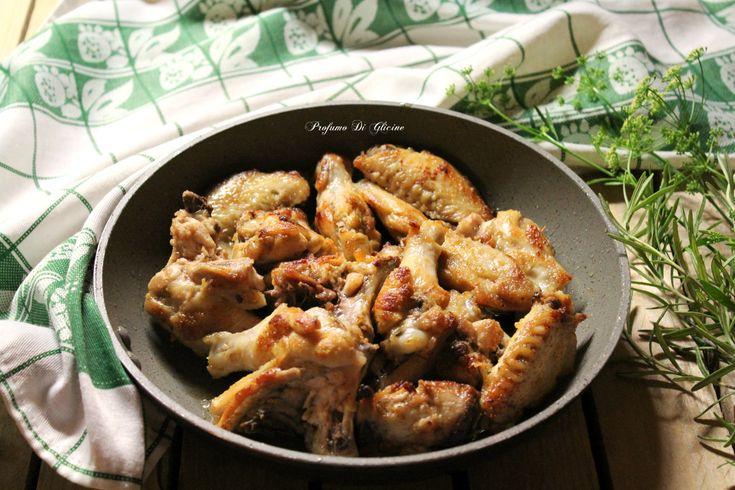 Ali di pollo saporite in padella