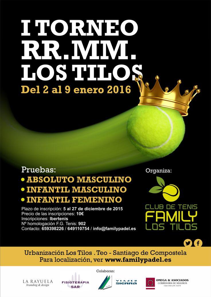 Cartel del I Torneo de Tenis RR.MM. Los Tilos.