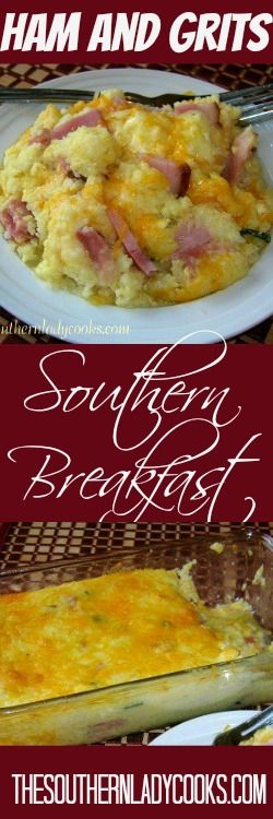 "Southerners love grits any way you ""fix"" them and this is one of my favorites.  You can also make this using sausage,  bacon or shrimp. 3 cups water 3/4 cup quick cooking grits 1/2 teaspoon salt …"