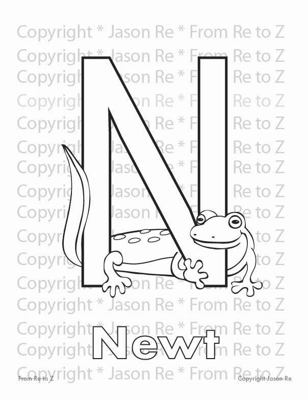 N Is For Newt Abcs Coloring Page Alphabet Printable Etsy In 2021 Abc Coloring Pages Coloring Pages Abc Coloring