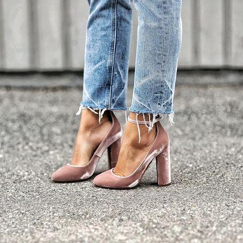 velvet pumps