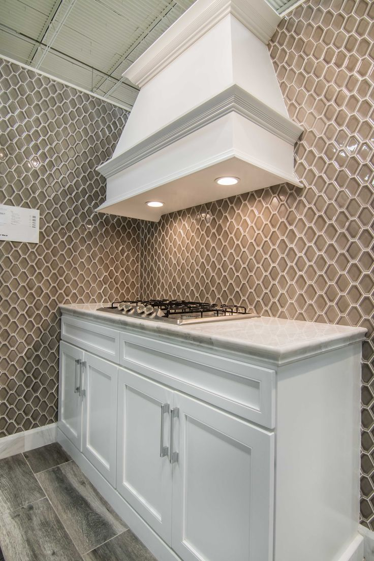Kitchen backsplash wall tile - Nova Hex Smoke Ceramic ...