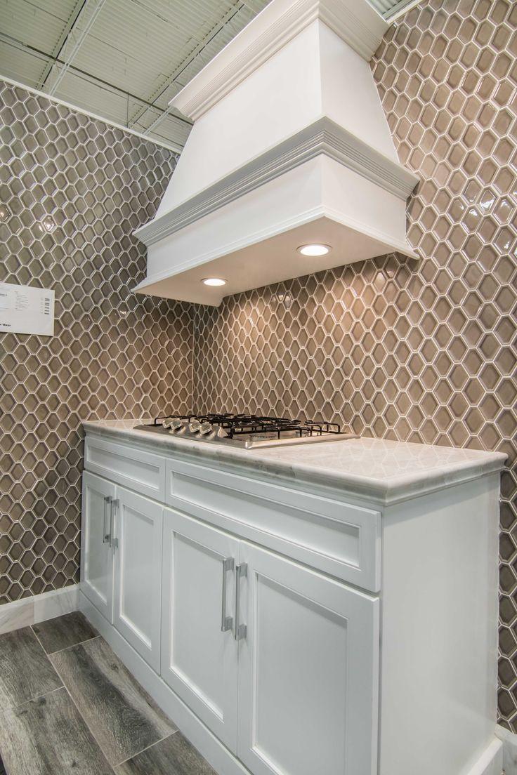 Kitchen Backsplash Wall Tile Nova Hex Smoke Ceramic