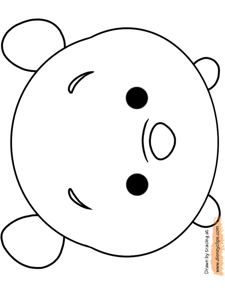Tsum Tsum Printable Disney Coloring Pages