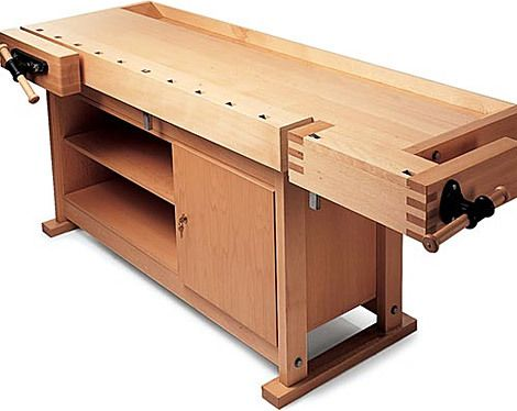 woodworking bench drawing