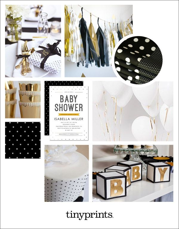 glamorous black and gold baby shower inspiration creative gold