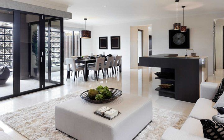 Great open plan kitchen, living, dining.